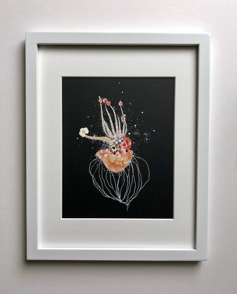Jenny Brown, Deep Horizon Cephalopod - Original Collage