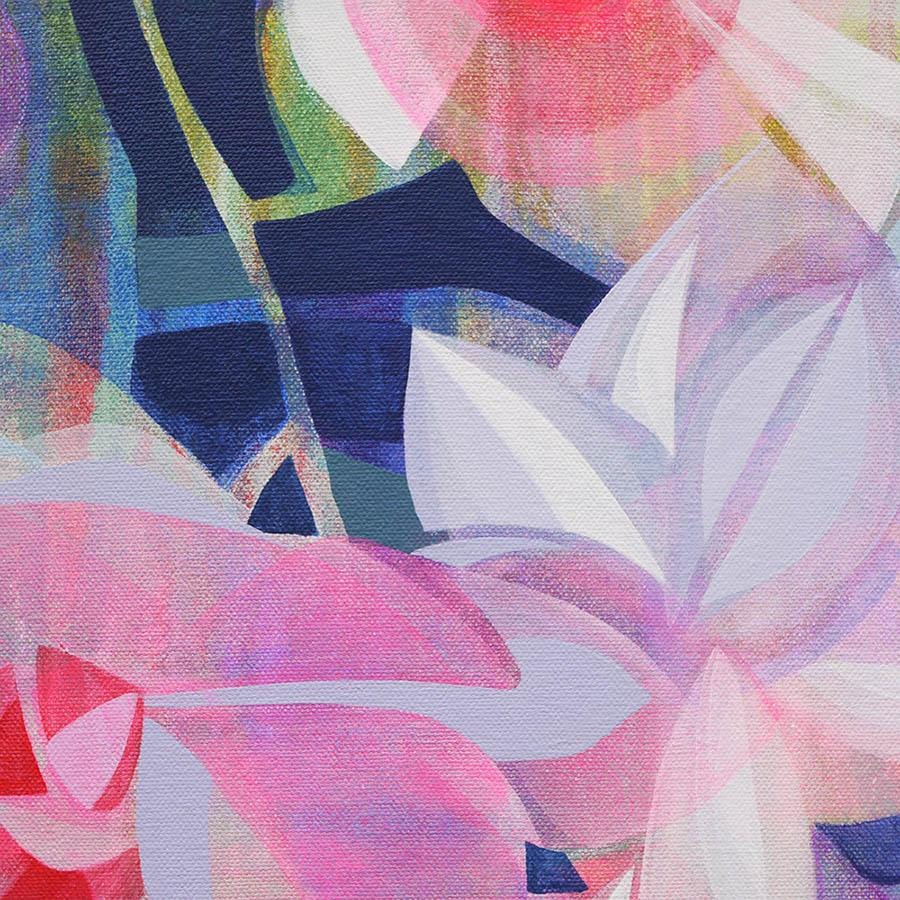 Abstract floral painting affordable art Manty Dey