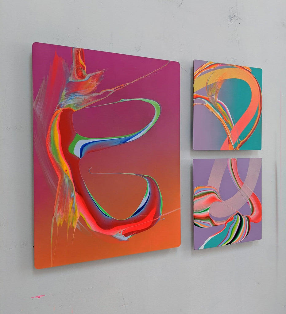 Abstract paintings by Erik Minter