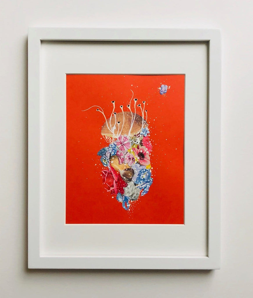 Jenny Brown, Hothouse Jellyfish - Original Collage