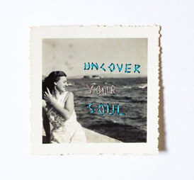 Juliana Naufel, Uncover your soul, Original Embroidery on Photograph