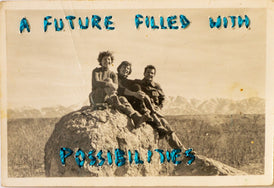 Juliana Naufel, A future filled with possibilities - Original Embroidery on Photograph