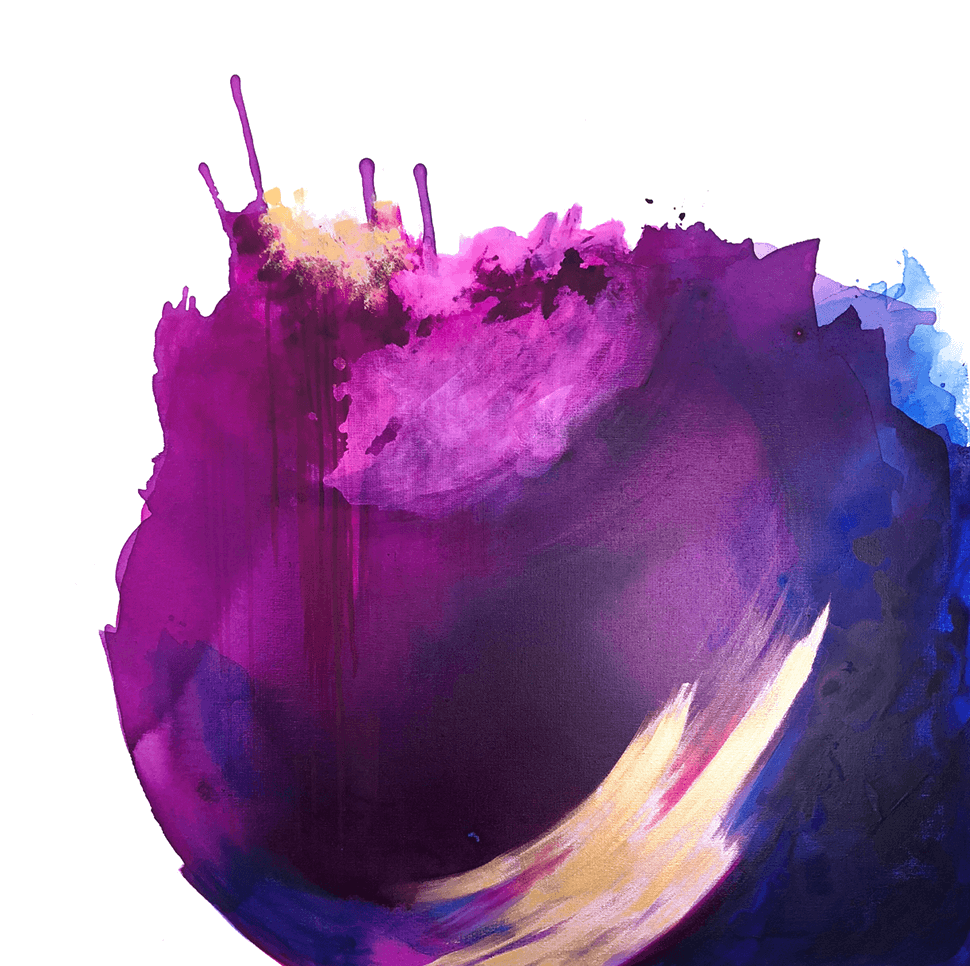 Purple abstract painting by Nicolle Cure