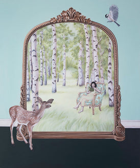 Shawna Gilmore, A Quiet Place In The Mirror - Original Painting