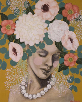 Shawna Gilmore, Bouquet With Pearls - Original Painting