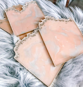 vedas-atelier-blush-and-gray-glitter-square-resin-coasters