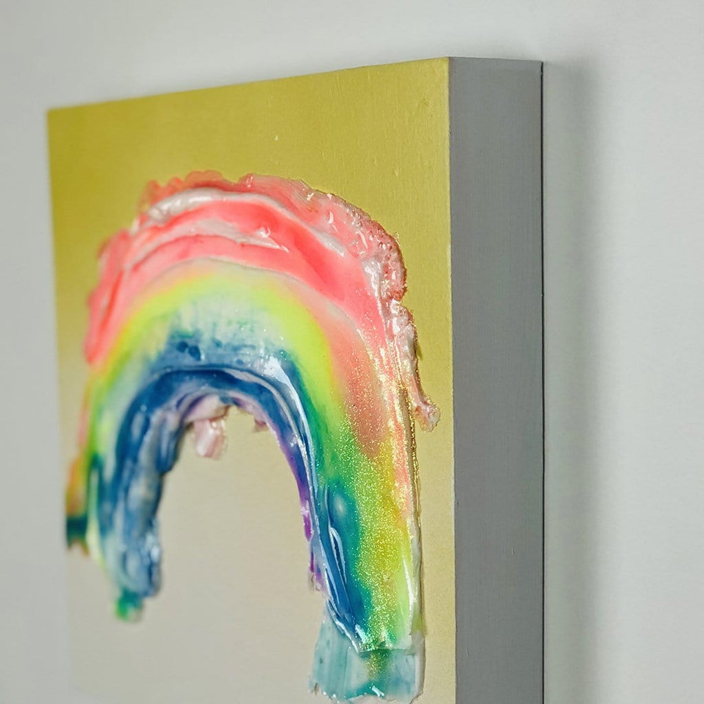 Megan Coonelly rainbow affordable art yellow