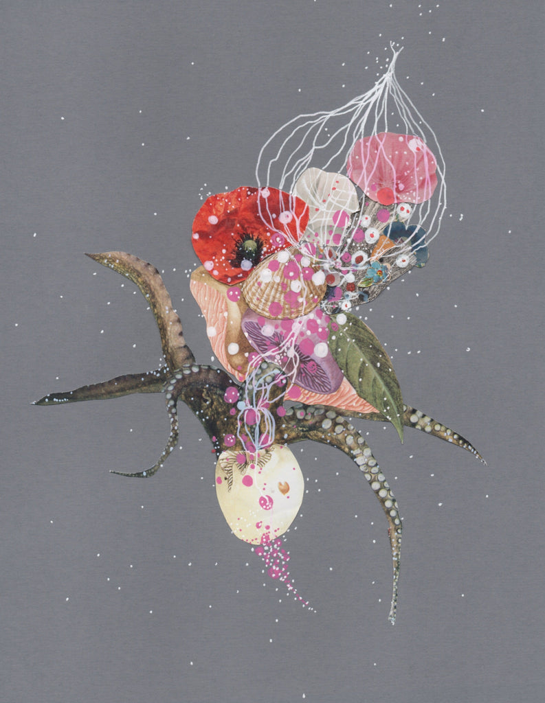 Jenny Brown, Blossoming Argonaut - Original Collage