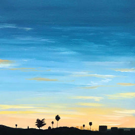 Kristin Moore, View Towards Santa Monica - Original Painting