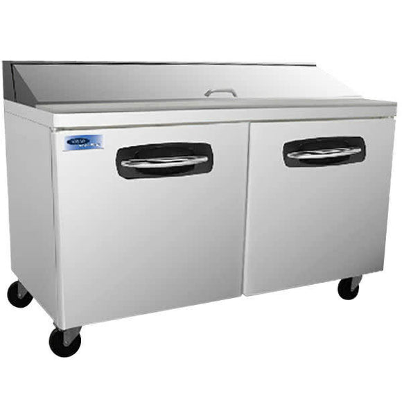 Norlake NLSP60-16 AdvantEDGE Commercial 2 Door Sandwich Food Prep Refrigerator,