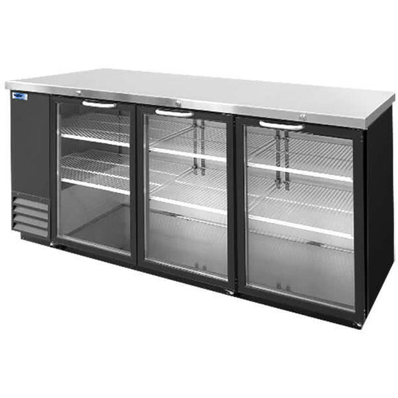 Norlake NLBB79G AdvantEDGE Commercial Three Glass Door Back Bar Refrigerator,