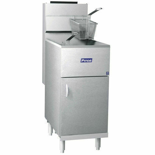 Pitco 40D Commercial 40-45 lb Gas Floor Fryer Stainless Steel