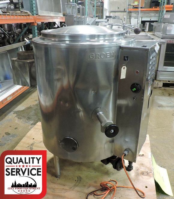Groen AH/1E-20 Commercial 20 Gal Stationary, 2/3 Steam-Jacketed Gas Kettle,