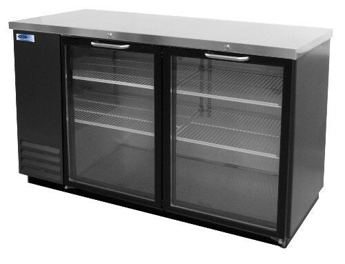 Norlake NLBB59G AdvantEDGE Commercial Two Glass Door Back Bar Refrigerator,