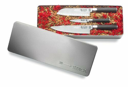 F. Dick (8104800) Damascus Knife Set, 3 Pieces - 1893 Series
