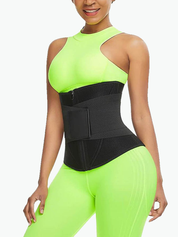 Zipper Waist Trainer Sweat Belt