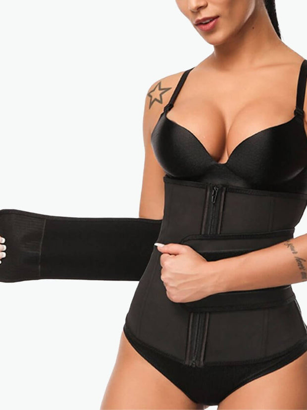 Zipper Steel Boned Waist Trainer