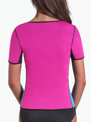 Pink Sleeved Workout Waist Trainer