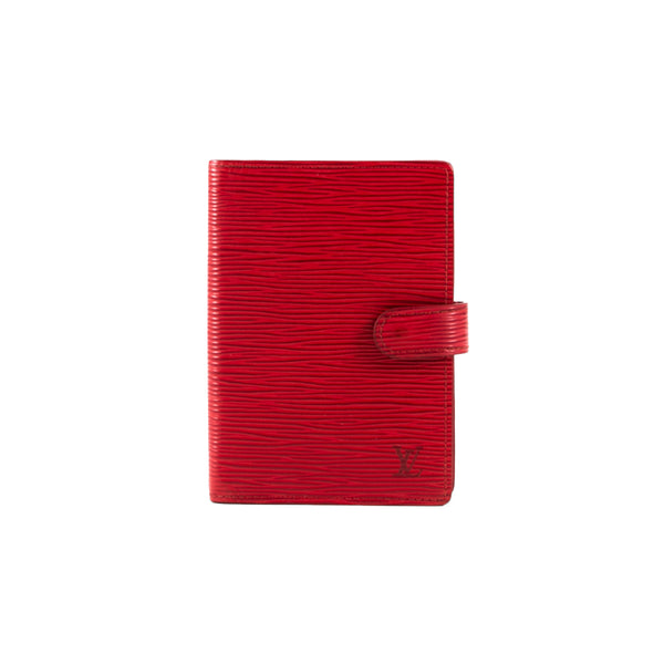 LOUIS VUITTON Red Epi Leather Ring Agenda Cover