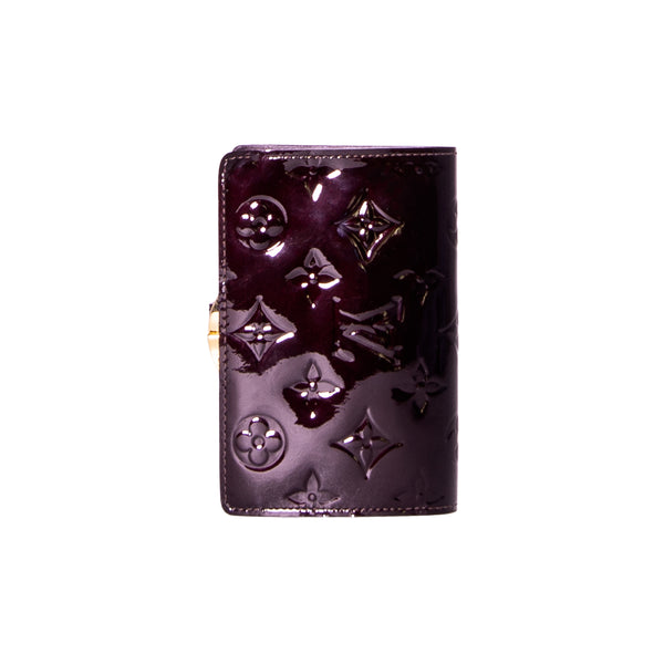 LOUIS VUITTON Amarante Monogram Vernis Port Feuille Viennoise French Wallet