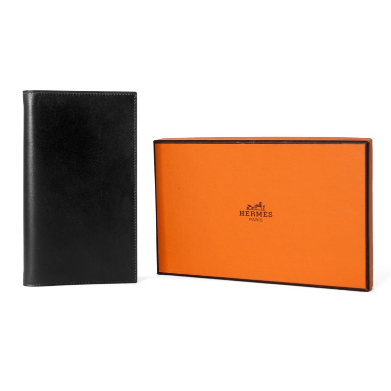 HERMÈS Black Box Leather Agenda Cover