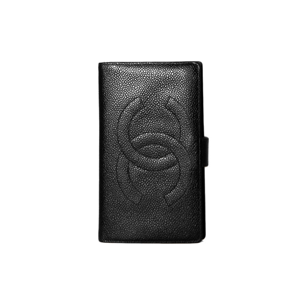 5af845171ae CHANEL Black Caviar Leather CC Long French Wallet Chanel Caviar Leather  Long French Wallet