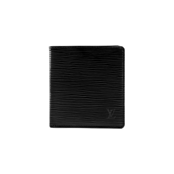 LOUIS VUITTON Black Epi Leather Porte Cartes Wallet