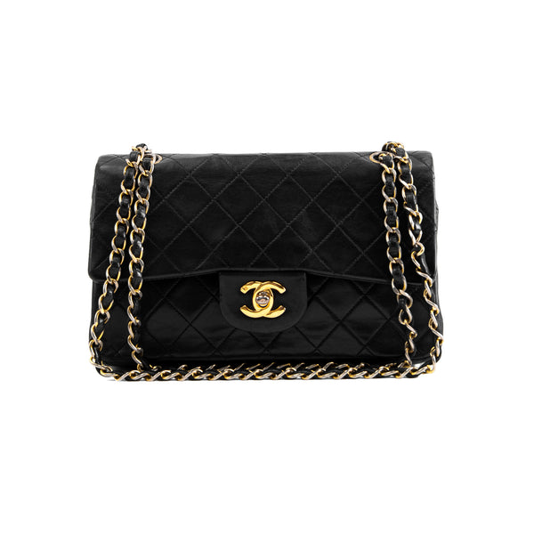 Vintage Chanel Quilted Lambskin Small Double Flap Bag