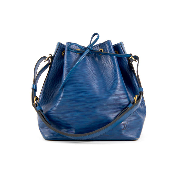 LOUIS VUITTON Blue Epi Leather Petit Noe Bag
