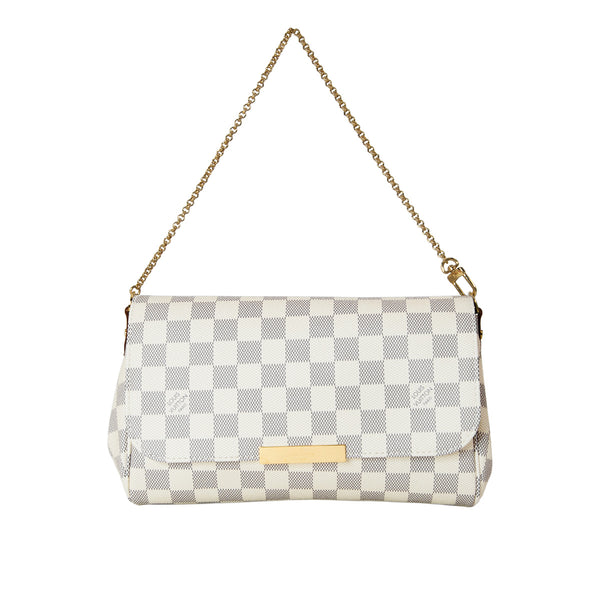 LOUIS VUITTON Damier Azur Canvas Favourite MM Clutch Bag