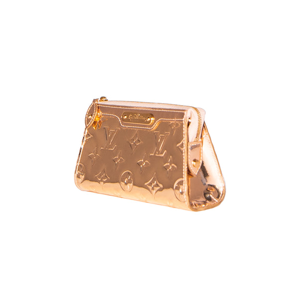 LOUIS VUITTON Limited Edition Gold Monogram Mirror Cosmetic Pouch