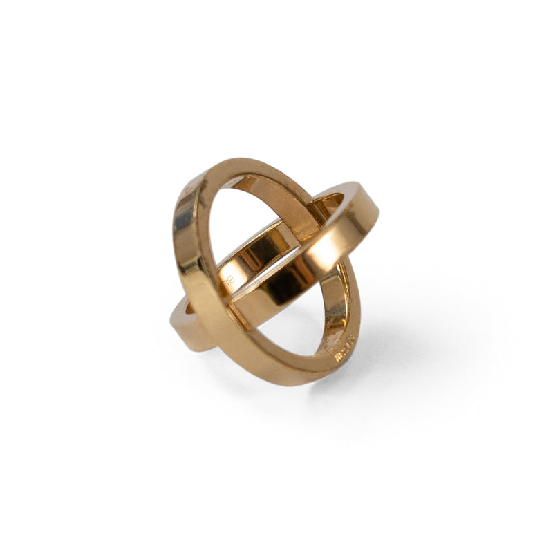 HERMÈS Gold Sphere Scarf Ring