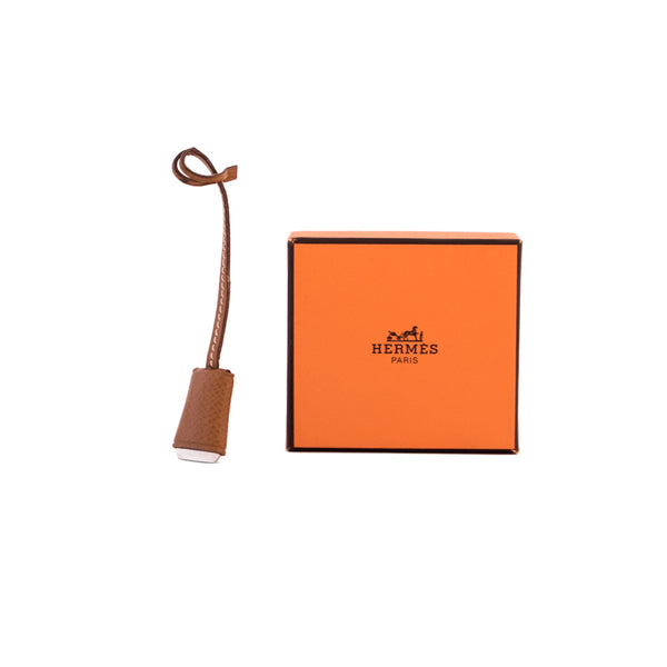 HERMÈS Brown Ardennes Key FOB Accessory
