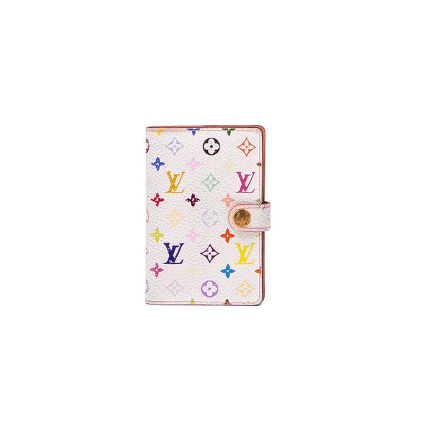 LOUIS VUITTON White Multicolour Mini Agenda Cover