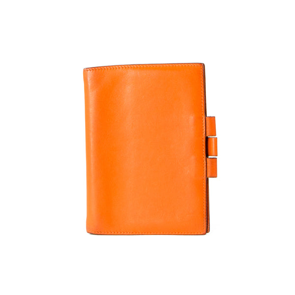 HERMÈS Orange Tadelakt Leather Vision II Agenda Cover