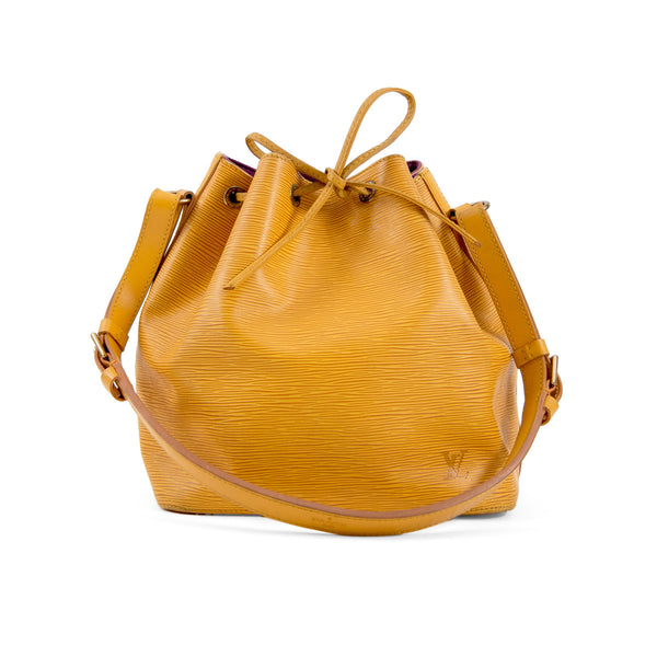 LOUIS VUITTON Yellow Epi Leather Petit Noe Bag