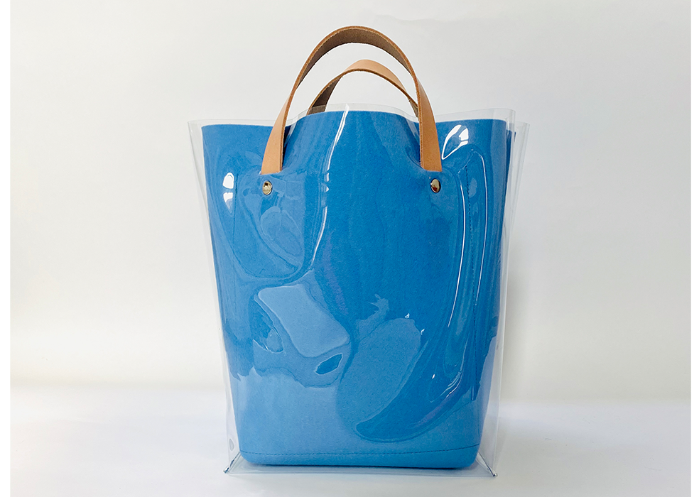 sky blue AMA tote with sleeve