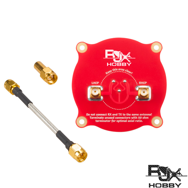 RJX 5.8 GHz 9.4dBi Triple Feed Patch - with 50ohm Terminator