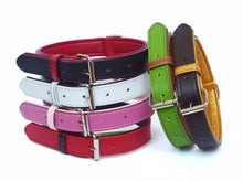 Load image into Gallery viewer, Black & Red Leather Collar & Lead Set - Can Buy Individually