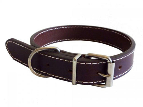 Brown Full Leather Collar & Lead - Can Buy Individually