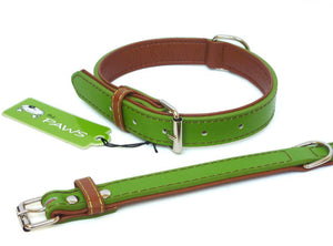 Green Fusion Leather Collar & Lead - Can Buy Individually