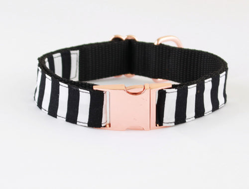 Black Crow On Rose Gold Collar