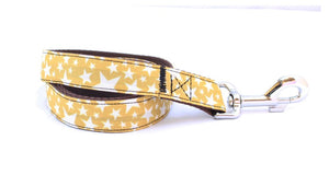Mustard Yellow Stars Dog Lead