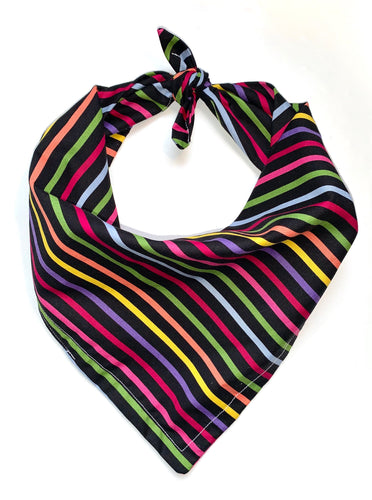 Multi-Coloured Striped Bandana