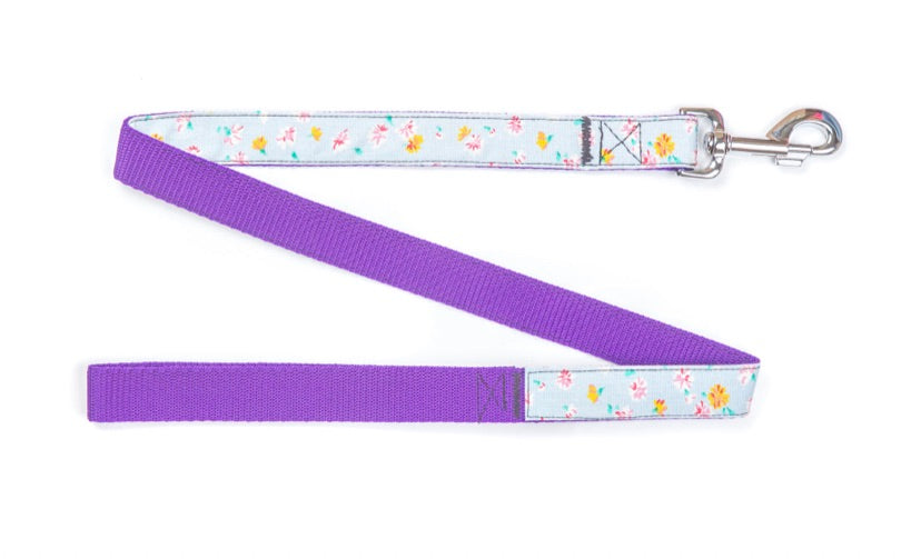 White Daisy Dog Lead