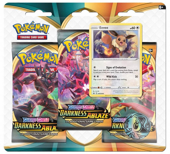 Pokemon - TCG - Darkness Ablaze - Three Booster Blister