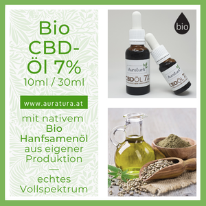 PREMIUM Bio CBD Öl 7% made in austria