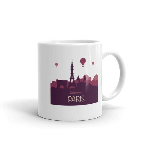 Welcome to Paris Skyline Mug