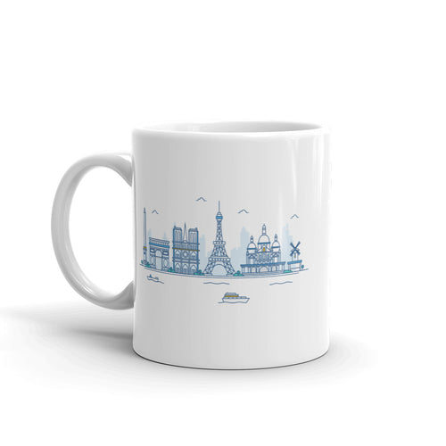 Paris Skyline Illustration Mug