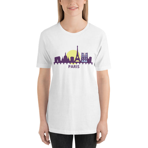 Paris Skyline Short-Sleeve T-Shirt